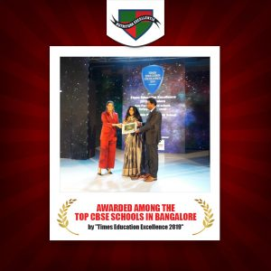 """Awarded among the top CBSE schools in Bangalore by """"Times Education Excellence 2019"""""""