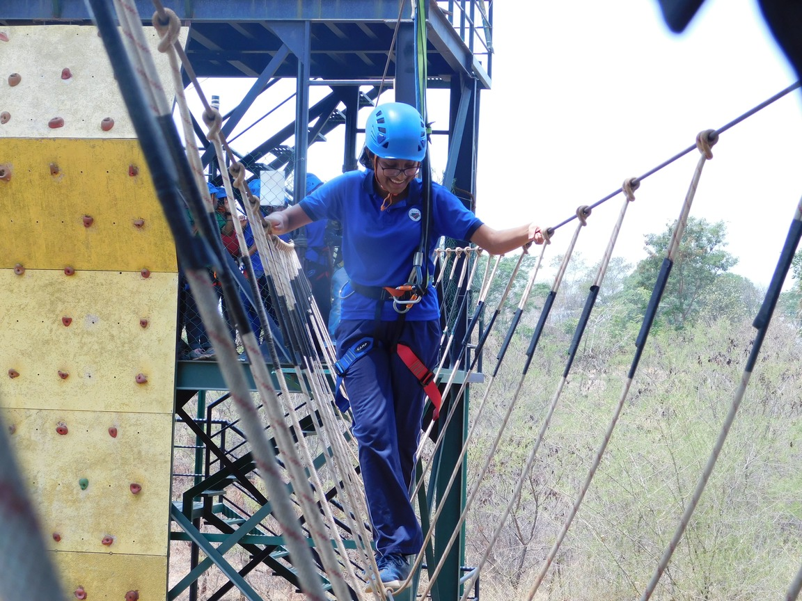 Students of Grade 1 to Grade 9 had an Adventurous Trip